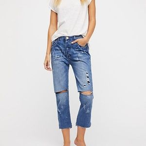 One Teaspoon Hooligans Pacifica Cropped Distressed